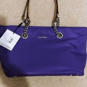 Calvin Klein purple nylon tote 🆕